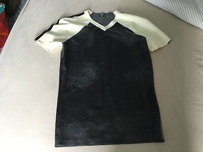 mens latex rubber T shirt by RoB size S-M