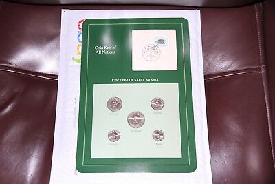 Coin Sets of All Nations Saudi Arabia 1400 - 1408 (1980-1988) UNC With Card