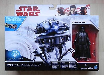 Star Wars Force Link Class A C1246 Imperial Probe Droid & Darth Vader Episode V