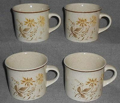 1977 Set (4) Royal Doulton SANDSPRITE PATTERN Cups or Mugs MADE IN ENGLAND