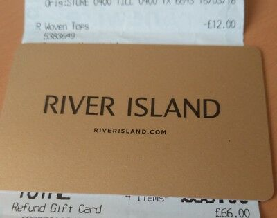 River Island Gift Card, Face Value £66