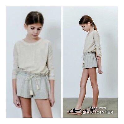 APRIL SHOWERS by Polder 6y Quality French Designer Crinkled Shorts TOO CUTE 💙