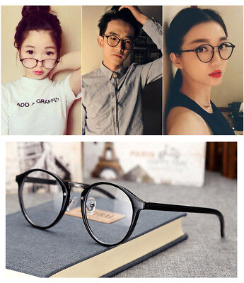 Womens Vintage Clear Lens Eyeglasses Frame Glasses Fashion Attractive Oval Pose