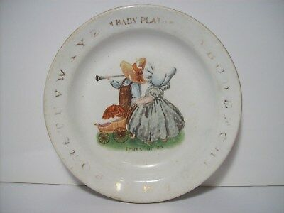Antique Baby Plate - Alphabet/Three of Us