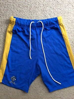 Ronhill Blue Yellow Lycra Running Shorts Athletics Size 8