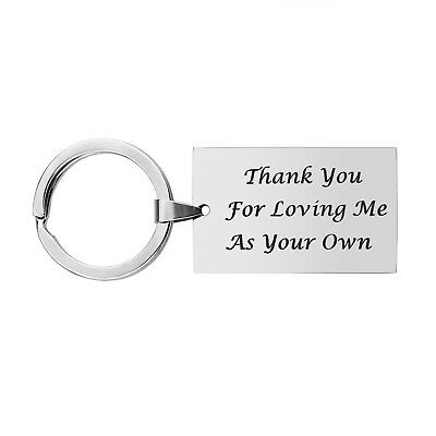 Step Father Dad Keychain Gifts - Dad Gift idea for Fathers Day from Wife ... New