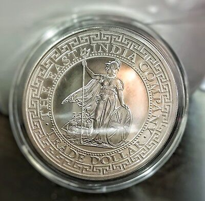 2018 St. Helena 1 oz Silver British Trade Dollar Capsuled Coin *Free Shipping*