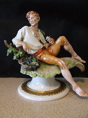 """Giuseppe Cappe  """"Young Man with Basket of Flowers"""" (30)  Excellent Condition"""