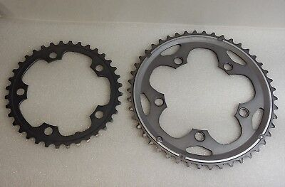 Shimano 105 FCCX50 10 Speed Double Chainrings 46/36T BCD 110mm