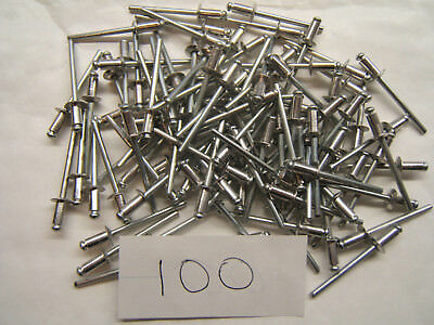 100 4 x 8 POP RIVETS DOMEHEAD ALUMINIUM BLIND RIVETS