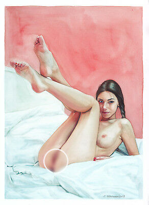 nude female | nu dessin | watercolor painting | アート | fine art | c.zittermann®