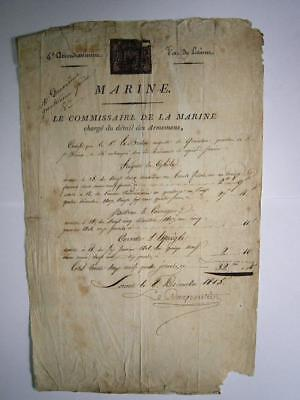 Napoleon Peninsular war France Military Naval service & pay document 1808 1815