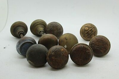 Lot of Vintage Brass & Other Metal Antique Decorative Door Knobs Some Matching