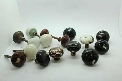 Lot of Vintage Antique Ceramic Porcelain Door Knobs Some Matching
