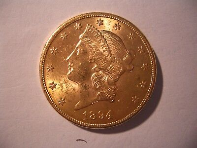 20 Dollars Gold Kopf-Type 1894.