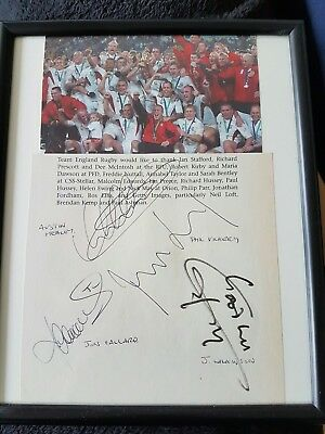 England Rugby World Cup Winners 2003 Signed
