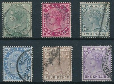 [39299] Malta 1885 Good lot Very Fine used stamps