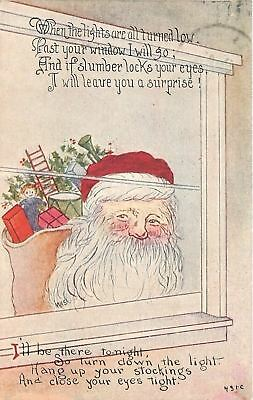 Santa Claus Peeks~When The Lights Are All Turned Low~Past Your Window I Go~1913