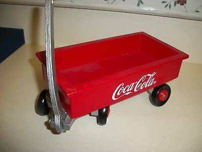 Coca Cola Little Red Wood Wagon-- Desk Top or Bean Bag Accessory
