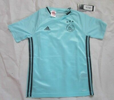Ajax Official adidas Training T-Shirt Brand New In Blue Size 11-12 Years