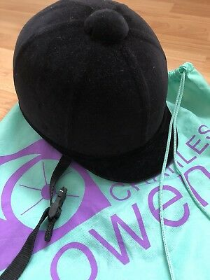 IMMACULATE Charles Owen 'Young Riders Hat' black velvet 6 3/4 or 55