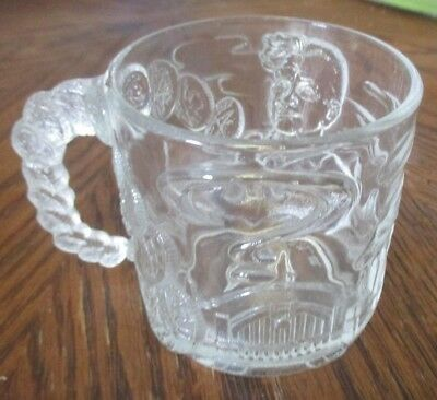 1995 Batman Forever McDonalds Glass Cup Mug TWO FACE DC Comics Collectible