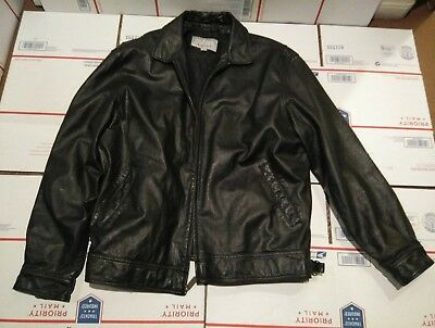 M JULIAN WILSONS LEATHER Jacket Mens Black Lined 2XL
