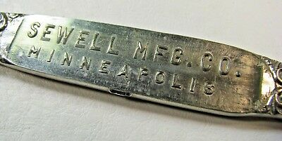 RARE Sewell  Mfg Co. Lightning Rod -Promotional Letter Opener Minneapolis
