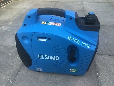 SDMO iNEO 2000 - 1850W Portable Suitcase Petrol Generator - VERY LITTLE USE
