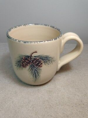 Home & Garden Party Northwoods Large Coffee Mug Pinecone