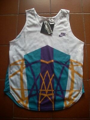 Nike International Vest Sleveless Shirt 90 Athletics Running M Womens Bnwt Vtg