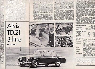 10 LOT ALVIS Cars, History & Specials, Multi-Page Magazine Articles- All UK
