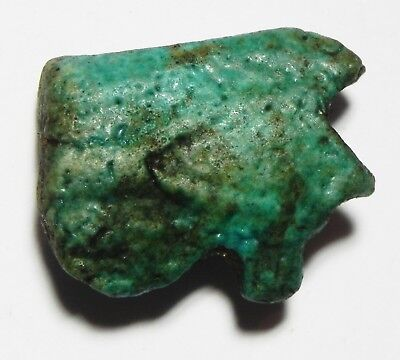 ZURQIEH -as5085- ANCIENT EGYPT , FAIENCE EYE OF HORUS AMULET. 600 - 300 B.C