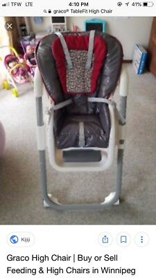Graco Table Fit High Chair Rittenhouse Three Position Reclining Seat Folding