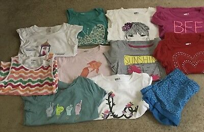 Girls 11Pc. Clothing Lot-10-10/12-12 Gymboree, Crazy 8 & More