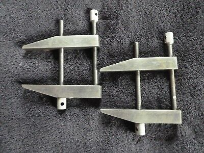 """PAIR Vintage LUFKIN RULE CO. 910F 3"""" MACHINIST PARALLEL CLAMPS"""