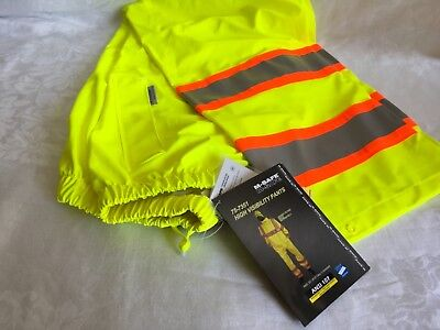 High Visibility Pants Yellow Large Reflective Safety Class 3 Waterproof Majestic