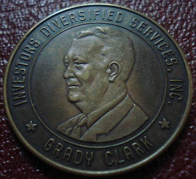 Investors Diversified Services, Inc / Grady Clark Token/medal In Vf Condition