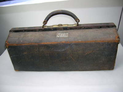 Early 1900's Doctor bag Welemaco Make registered 1908 showing it's age