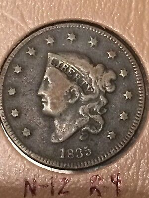 1835 Large Cent. Small 8 Sm Stars N-12 R-4