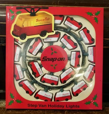 New Snap-On Tools Step Van Truck Holiday Christmas Lights Light String 2002 RARE