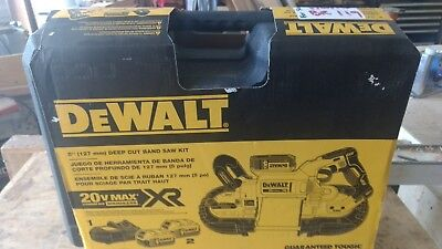 DEWALT DCS374P2 20V MAX XR Brushless Deep Cut Band Saw Kit, never opened, NEW.