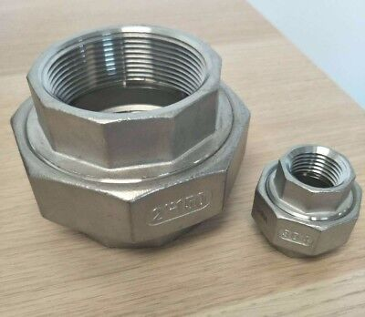 "Union150# 304 Stainless Steel 1-1/2"" Inch NPT Brewing Pipe Fitting"