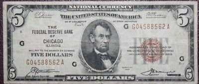 Series of 1929 $5.00 USA National Currency Auction w/a Bid Starting at $0.99