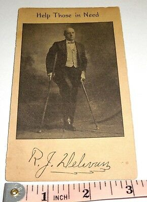 Antique Campaign Advertising Card Alderman R. J. Delevan Scranton Pa. UNUSUAL!!