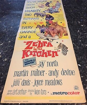 ZEBRA in the KITCHEN INSERT MGM, 1965 JAY NORTH Dennis The Menace, MILNER