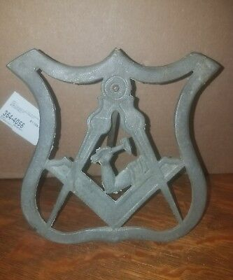 Antique Rare Masonic Grave Marker