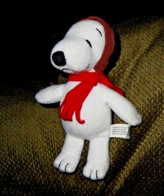 """Peanuts United Feature Syndicate Plush 5"""" Flying Ace Red Baron Snoopy"""