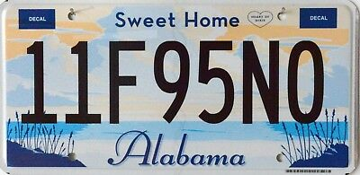 """USA Number Licence Plate ALABAMA """"SWEET HOME""""  HEART OF DIXIE FLAT STYLE"""