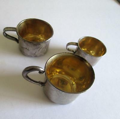 3 Sterling Baby Cups